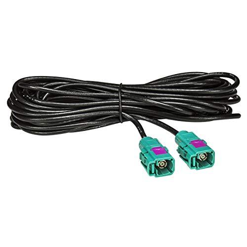 tomzz Audio 1600-013 Fakra Antennen-Verlängerung 6m 600cm Fakra Buchse (F) auf Fakra Buchse (F), Kabel RG174, Typ Z codiert