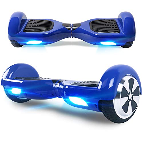 Windgoo Hoverboard, 6,5 Zoll Self Balance Scooter mit Bluetooth Lautsprecher - Starker Dual Motor - LED Lights Elektro Scooter, Self Balancing Scooter für Kinder (Blau)