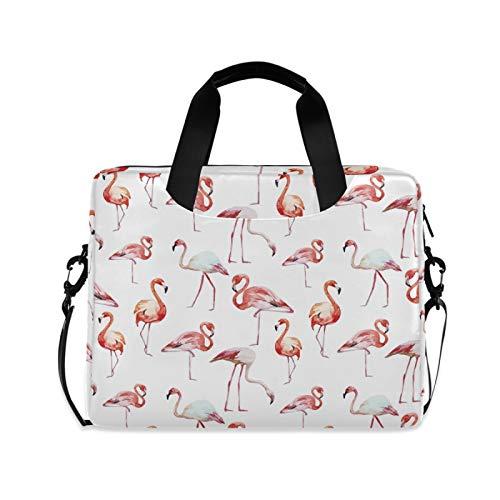 Laptop Bag Flamingo Shoulder Messenger Laptop Case Sleeve Watercolor Flamingos Computer Bags 14/15/15.6 Inch for Women Men