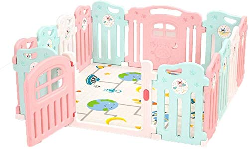 HXF Practical Baby Playpen Room Divider Strong And Durable Plastic Easy To Install For Babies/Toddler/Newborn/Infant/Pets Beautiful (Size : 187.5x225cm)