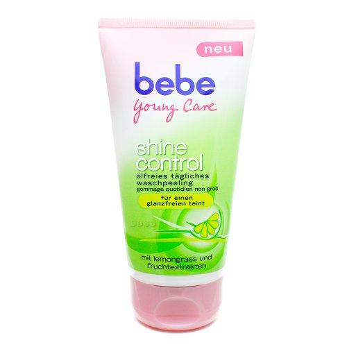Bebe Young Care Ölfreies Waschpeeling 150ml, mild, sanfter Peeling Effekt, glanzfreier Teint, matter Teint