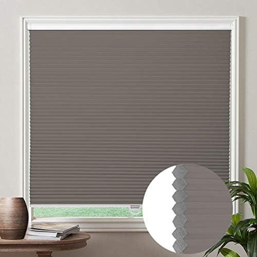 Cordless Cellular Shades Honeycomb Blinds Grey Blackout Bottom Up Window Blinds Custom Honeycomb product image