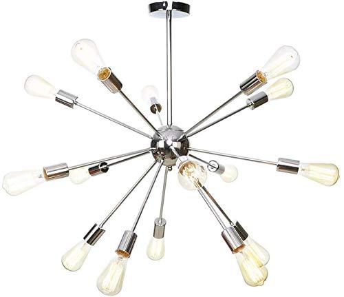 PXY Candelabro de Mediados de Siglo E26 de Alta Gama Y Atractivo, Lámpara Colgante Vintage de 15 Ramas, Lámpara de Techo Antigua, Montaje Semi Empotrado de Metal, Accesorios de Iluminación para Inter