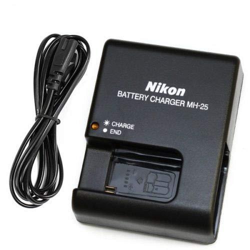 MH-25 Cargador Compatible para Nikon EN-EL15 EN-EL15a D7000 D7100 D7200 D750 D7500 D800 D800E D810 D810A D810E D850 D500 D600 D610 1 V1