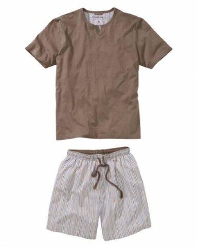 I-Smalls Wolsey Ensemble du Pyjama Court en Coton US05 Homme (2XL) Beige