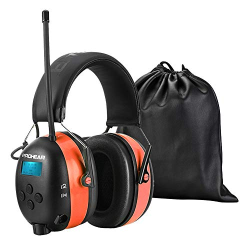 PROHEAR 033A Radio Gehörschutz mit DAB + / Bluetooth 5.0/ FM, Wiederaufbare Radio Ohrenshützer, Eingebautem Mikrofon und Lärmreduzierung für Mähen, lärmintensive Freizeitaktivitäten SNR30dB
