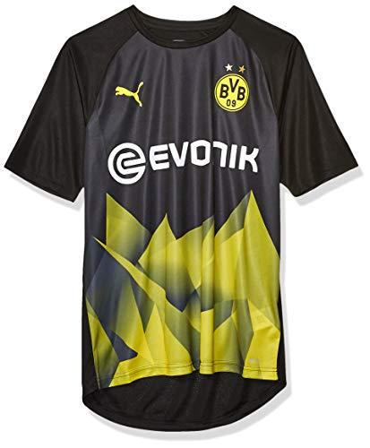 PUMA Herren BVB Int'l Stadium Jersey with Evonik, Herren, Hemd, BVB Int'l Stadium Jersey with Evonik, Puma Blackcyber Yellow, X-Large