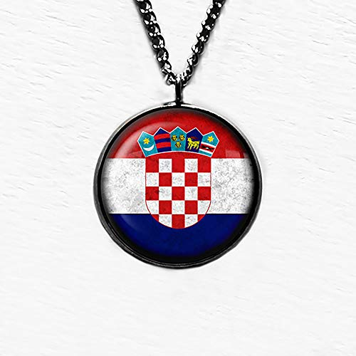 Croatia Croatian Flag Kroatien Kroatische Flagge Anhänger und Halskette
