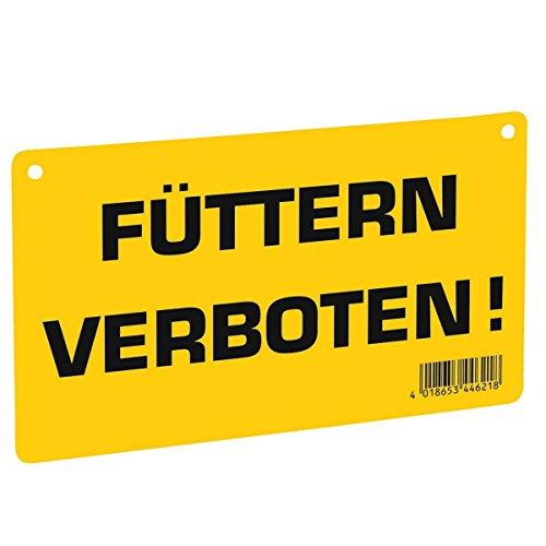 Kerbl Warnschild – Füttern verboten! – Sicherheitschild Weideschild Warntafel