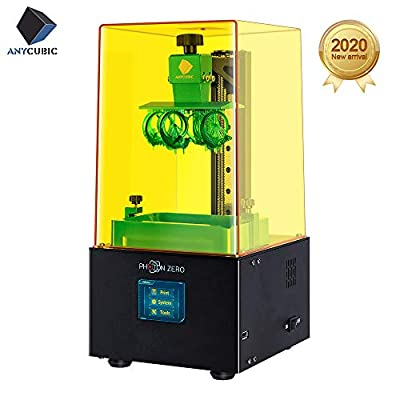 ANYCUBIC Photon Zero UV Photocuring 3D Printer LCD Masking Technology 3D Print Size 95 x 54 x 150mm With New HD UI, Support 16 Times Anti-aliasing