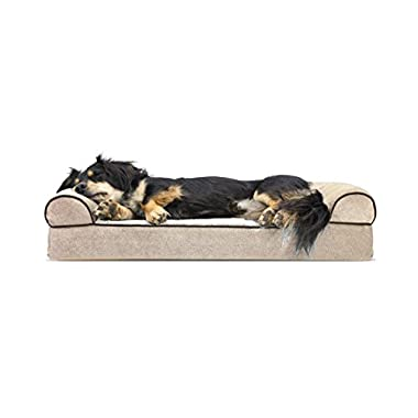 FurHaven Orthopedic Dog Couch Sofa Bed for Dogs and Cats, Medium, Cream