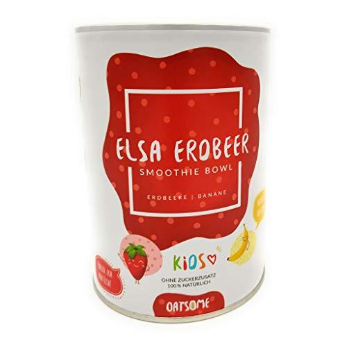 Kids Elsa Erdbeer's - Smoothie Bowl - Nährstoff Frühstück mit 100% Natürlichen Zutaten & ohne Zusatzstoffe und raffinierten Zucker - - 400g