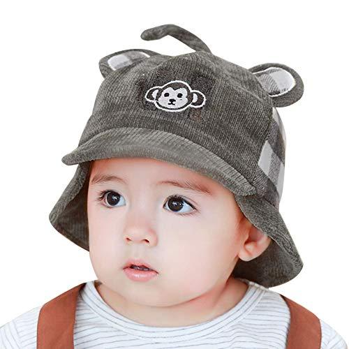 kyman Hat Cap Kids Kids Beanie Hat con la Cola del Mono 3D Hecho a Mano Hecho a Mano Tapa de Abrigo para 8 M-3 y Baby Boy Boy Boy Chica Nio Sombrero de Punto (Color: Azul, Tamao: 48cm / 18.8