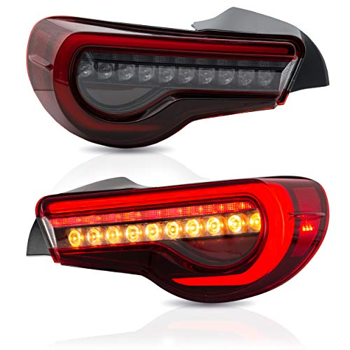 VLAND LED Rücklicht Kompatibel für 2012-2020 GT86 FT86 / BRZ 2013-2015 Rücklichter mit sequentieller Anzeige Rote Linse, Weiß