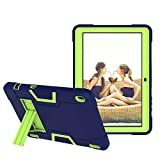 Koolbei Case for Walmart Onn 10.1 Inch Tablet, Heavy-Duty Drop-Proof and Shock-Resistant Rugged Hybrid case(with Built-in Stand), for Walmart Onn Android Tablet 10.1 Inch(ONA19TB003)Case (Navy/Green)