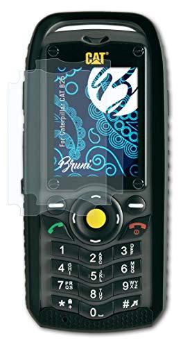 Bruni Schutzfolie kompatibel mit Caterpillar CAT B25 Folie, glasklare Bildschirmschutzfolie (2X)