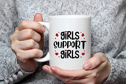 N\A Taza de café Feminista, Taza de Apoyo para niñas, Regalos Divertidos de Poder Feminista para Mejores Amigas, Regalos Divertidos de Feminismo