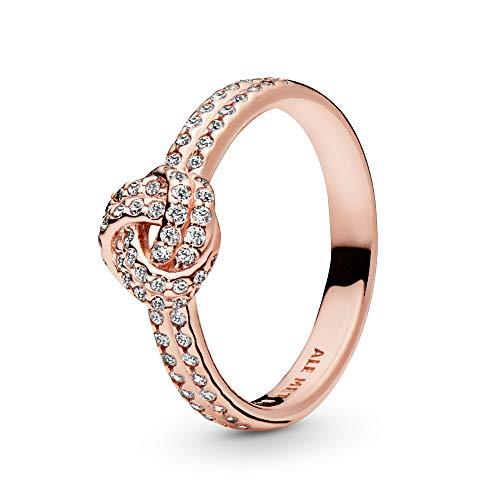 Pandora Damen-Motivring Silber_vergoldet mit '- Ringgröße 56 (17.8) 180997CZ-56