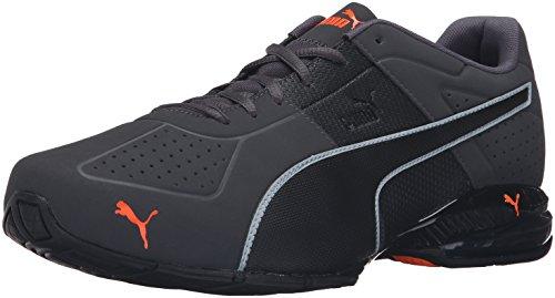PUMA Men's Cell Surin 2 Sneaker asphalt- black-shocking orange 10 M US