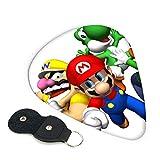 Mario Bros 6 púas de guitarra de doble cara con llavero de
