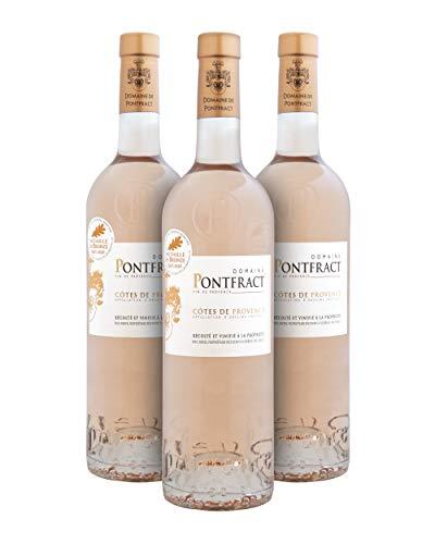 Domaine de Pontfract A.O.P. Côtes de Provence Vino Rosado - Provenza, Francia - Pack de 3 Bot. 75 cl