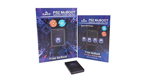 Kaico Free Mcboot 32 MB PS2 Memory Card con FMCB PS2 Mcboot 1.966 per Sony Playstation 2 - FMCB Free Mcboot La tua PS2 - Plug and Play - Playstation 2 CFW McBoot 1.966