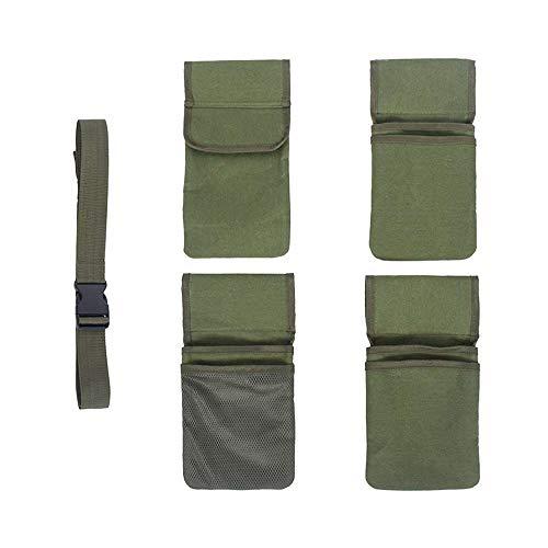 XJF Bolsa de lona para cinturón de herramientas ajustable, media cintura, delantal de jardinería, bolsa de cinturón de herramientas al aire libre