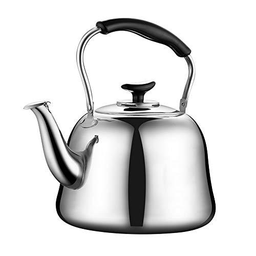 Théière Sifflet En Acier Inoxydable Pour Thé, Café Et Lait, Capacité 4L-7L (Couleur : Silver, Taille : 6L)