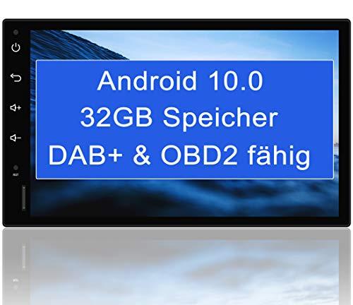 "Tristan Auron BT2D7018A Android 10.0 Autoradio mit Navi - 7\"" Touchscreen GPS Bluetooth Freisprecheinrichtung I 32GB ROM I MirrorLink WiFi USB SD I DAB+ OBD 2 2 DIN"