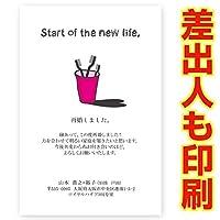 【差出人印刷込み 30枚】再婚報告 はがき SAI-01 再婚 ハガキ 印刷 お知らせ