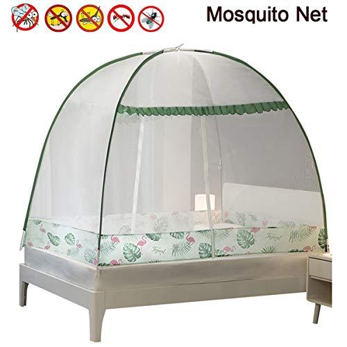 GODLV Pop-up muggennet tent opvouwbaar muggennet bed transparant mesh afdekking baldakijn bedgordijn baldakijn bed net jurte net perfect voor binnen en buiten eenvoudige installatie