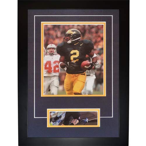 "Charles Woodson Autographed Michigan Wolverines ""Signature Series"" Frame – JSA"