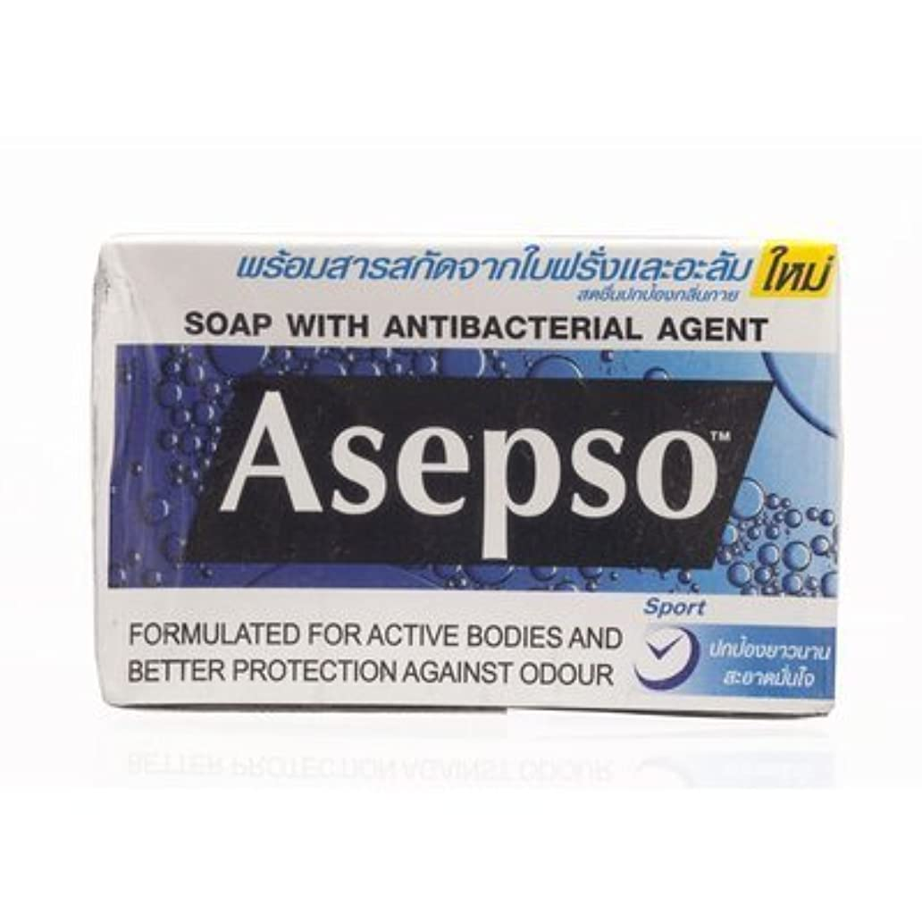 Asepso Bar Soap Sport 80g. (Pack of 6) by Asepso