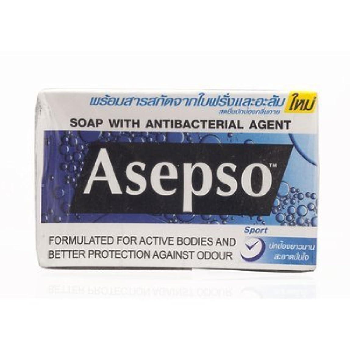 ファブリック広い居住者Asepso Bar Soap Sport 80g. (Pack of 6) by Asepso