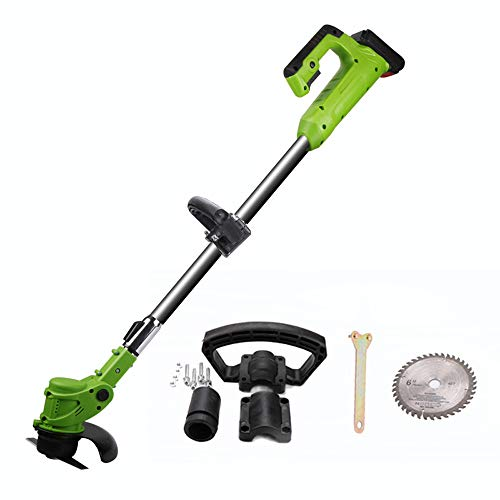 Best Buy! LQYGM Portable Garden Electric Lawn Mower Agricultural Cordless Weeder 24V Lithium Battery...