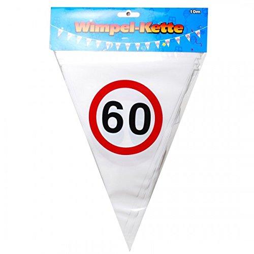 Udo Schmidt verjaardag wimpel slinger 60 jaar verkeersbord party decoratie Happy Birthday