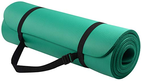 Balance Yoga Mat with Carrying Strap, Green, One Size From Go Yoga All Purpose Anti-Tear Exercise Mats