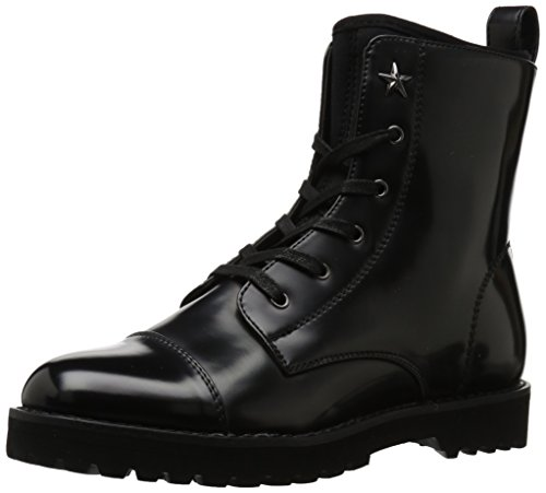 Tommy Hilfiger Women's PALMYR Combat Boot, Black/Black, 8.5