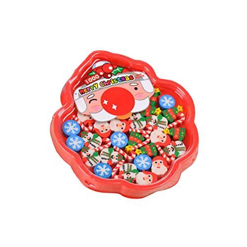 Toyvian Weihnachten Radiergummis mit Weihnachtsmann Form Gummi Radiergummi Neuheit für Kinder Weihnachten Party Favors Supplies