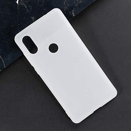 Xiaomi Mi Mix 2S Hülle, Kratzfeste Weiche TPU Back Cover Stoßfest Silikon Gel Gummi Bumper Anti-Fingerabdrücke Ganzkörper Schutzhülle für Xiaomi Mi Mix 2S (weiß)