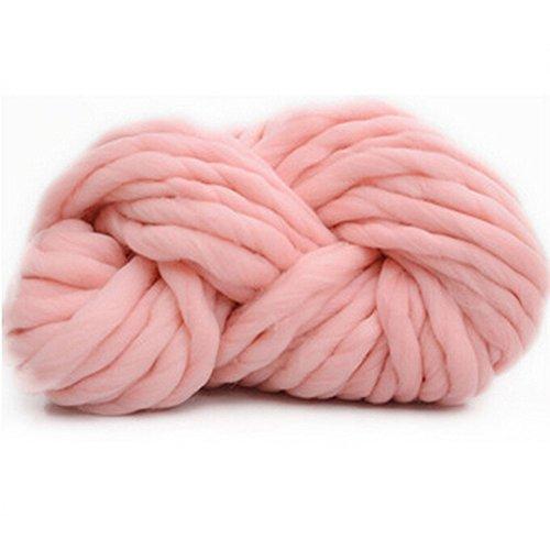 Bluelans® - Pelote de laine à tricoter très douce, fil épais, 250 g, 100 % acrylique rose clair
