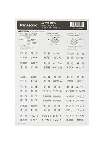 パナソニック ネームスイッチカード ホワイト WVC8321W
