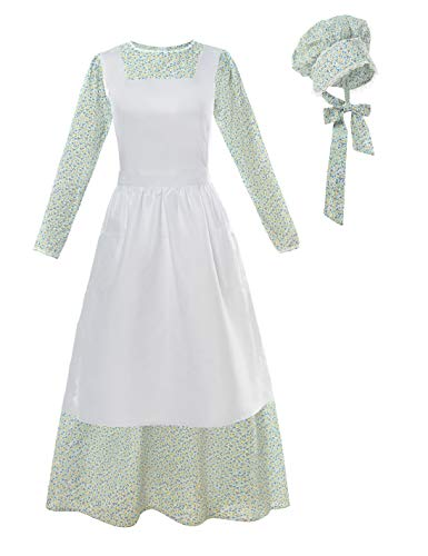 ROLECOS Pioneer Costume Dress Womens American Historical Clothing Modest Prairie Colonial Dress - http://coolthings.us