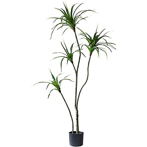 LANHA Künstliche Dracaena Yucca Palme mit Topf, 180 cm 4 Kopf Künstlicher tropischer Yucana Baum Gefälschte Pflanze für Indoor Outdoor Home Decor Tropische Yukka Pflanze