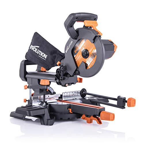 Evolution Power Tools R210SMS+ Ingletadora deslizante multimaterial de 210 mm, con paquete Plus, 230 V