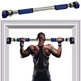 Gielmiy Pull Up Bar, Doorway Chin Up Bar Upper Body,Door Exercise Bar Without Screw Installation,Workout Bar for Home Gym Exercise Fitness - 440 LBS