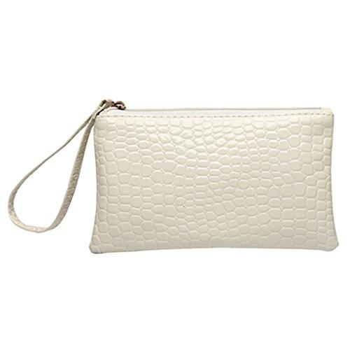 Kleine Kunstledertasche mit Handschlaufe von Gemini_mall Gr. Einheitsgröße, weiß