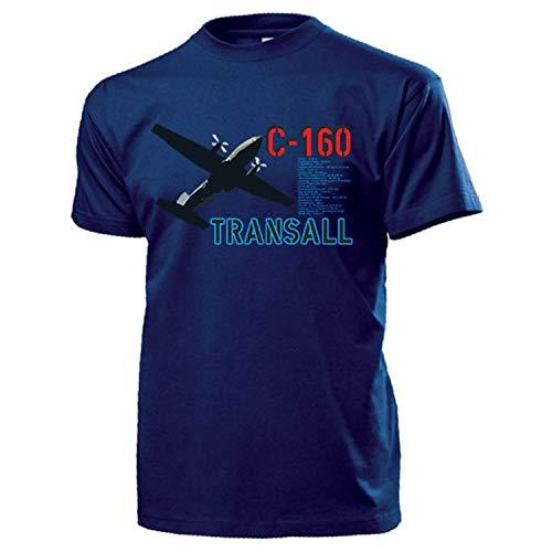 C-160 Transall Daten_Bundeswehr Luftwaffe LTG Flugzeug - T Shirt #13260, Größe:XXL, Farbe:Dunkelblau