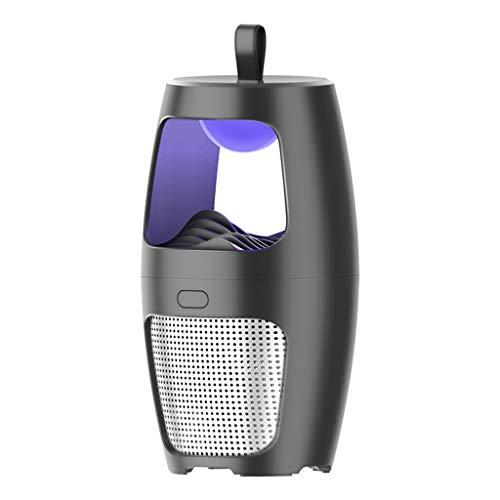 Andouy Elektrischer Insektenvernichter Kontroll-LED-Licht Falle Moskito Lampe(12X12X23cm.Schwarz)