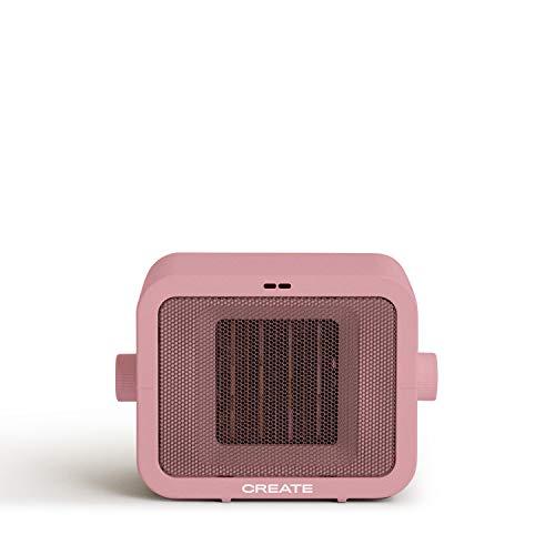 IKOHS WARMIC - Calefactor Cerámico de Habitación, Calefactor Portátil, 1500W, Termostato Regulable, 2 Modos de Potencia, Calefactor de Aire Caliente PTC (Rosa Pastel)